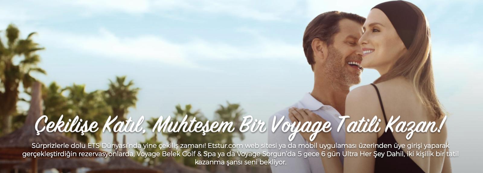 Tatil kazanma şansı! Çift kişilik muhteşem bir Voyage tatili kazanmak ister misin?